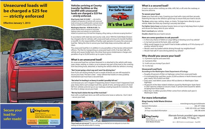 Secure Your Load brochure