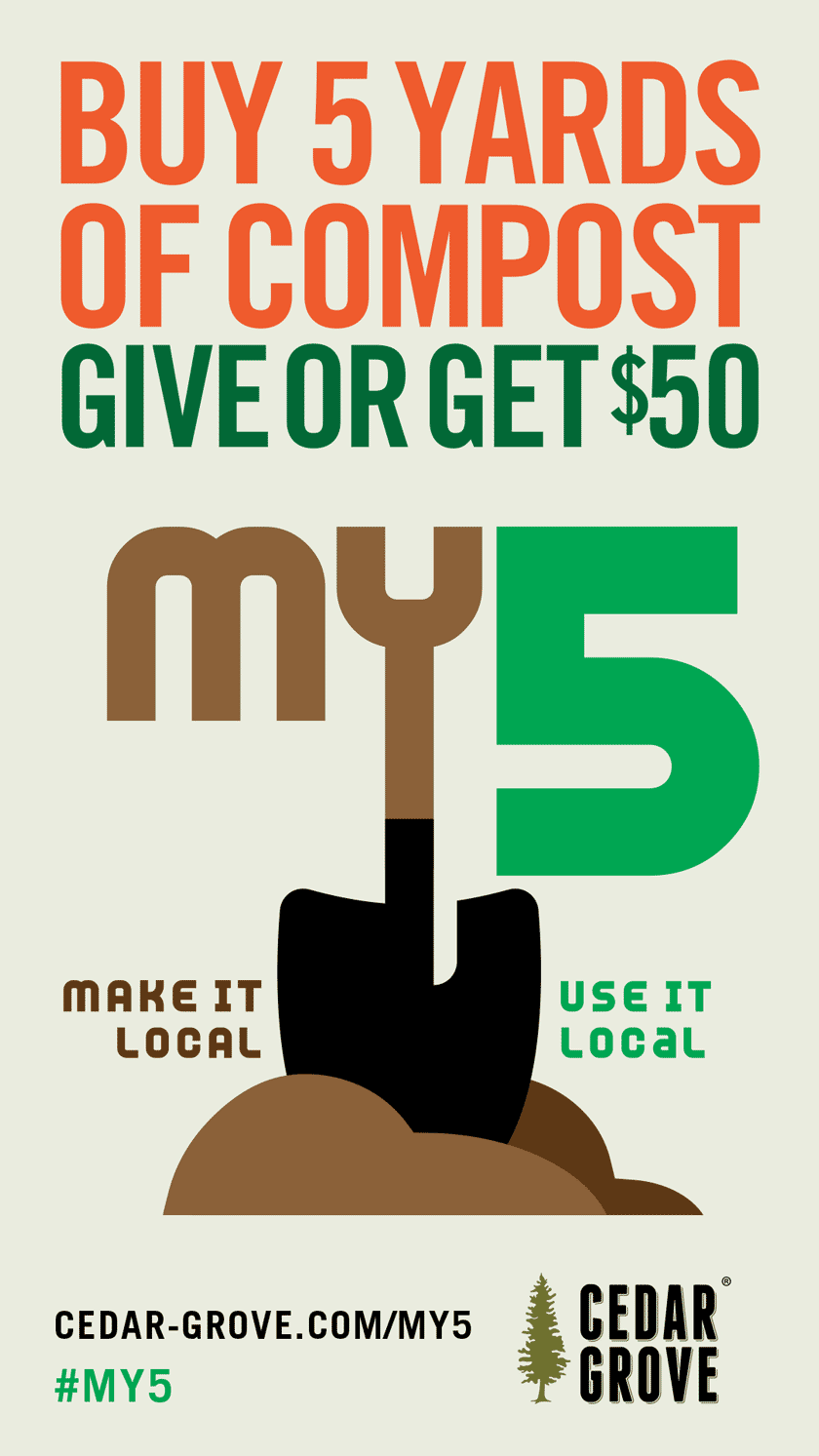 Infographic: Buy 5 or more yards of compost and Cedar Grove will donate $50 to your favorite local nonprofit