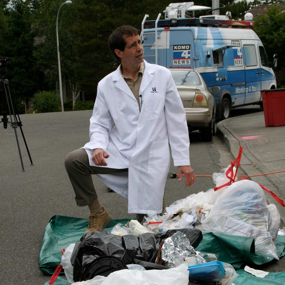 "Tom Watson—King County's resident ""Garbologist""— judges the Recycle More Neighborhood Challenge."