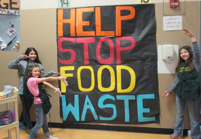 Westwood Elementary School students conduct a campaign to reduce wasted food