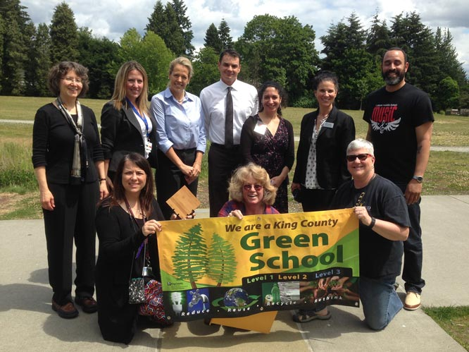 Lakota Middle School celebrates King County Green Schools recognition and 2016 US Green Ribbon School Award