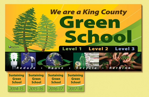 level 4 graphic sustaining green school