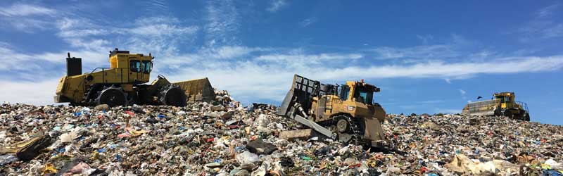 Machinery working at Cedar Hills Regional Landfill