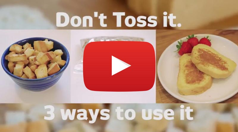 Learn how to use up stale bread! (YouTube)