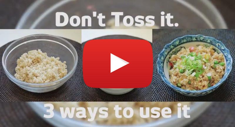Learn how to use up leftover rice!