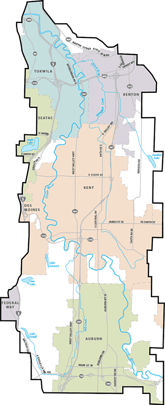 Green River Flood Control District map