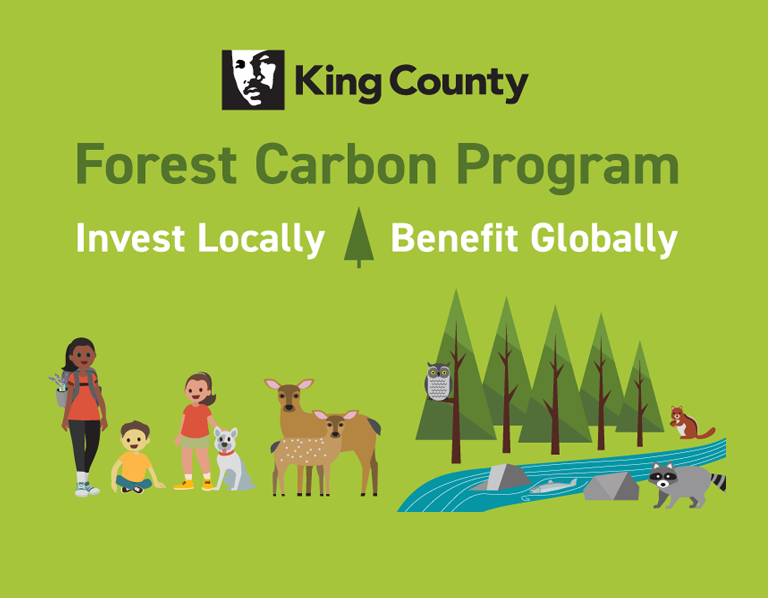 Forest Carbon Program: Invest locally, benefit globally. King County.