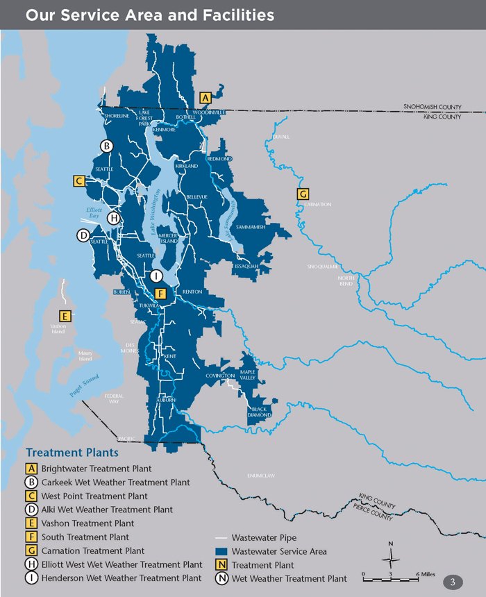 Service area and facilities - King County Wastewater Treatment Division