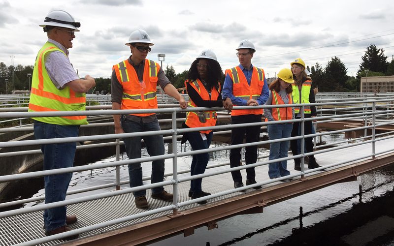 Interns touring South Treatment Plant