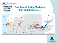 Four tunnel boring machines that built Brightwater