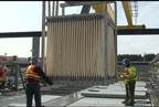 Video: installation of membrane bioreactor filters (MBRs) at the treatment plant (April 2011).