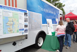 King County returned to the Fremont Fair on June 16 and 17, 2012 with our sewer inspection truck.