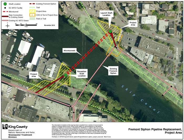 Fremont Siphon Pipeline Replacement, Project Area
