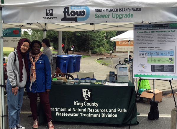 King County staff at booth