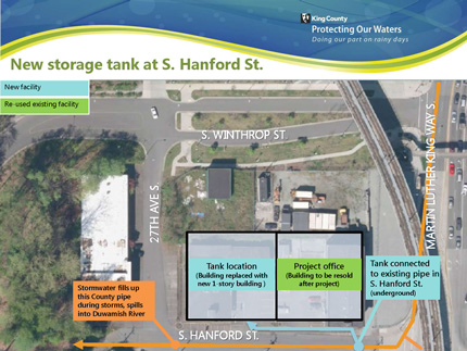 new storage tank at S. Hanford St.