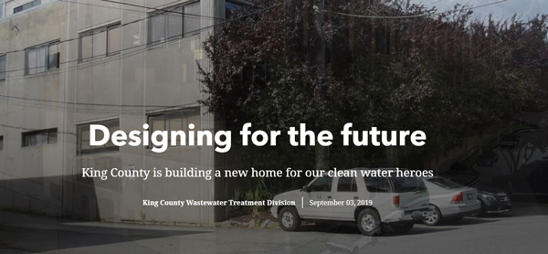 Designing for the future - photo of Jameson Building and link to storymap.