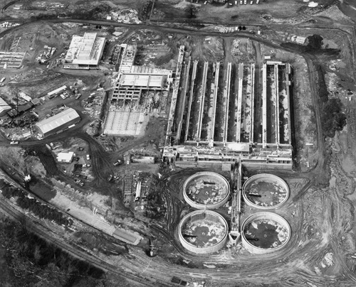 Construction of the Renton (South) Treatment Plant in the 1960's.