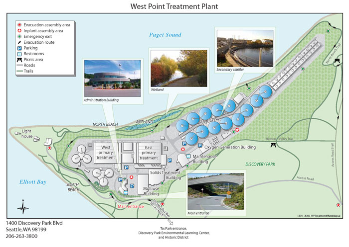 Map West Point Treatment Plant Seattle Wa King County
