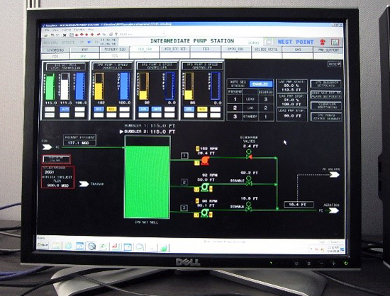 hydraulic flow simulator: used to train operations staff on how to manage plant hydraulic flows and different operational scenarios