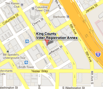 Map of directions to King County Administration Building