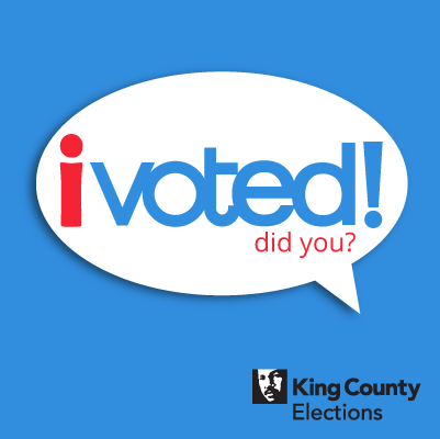 photo regarding I Voted Stickers Printable called Electronic stickers - King County