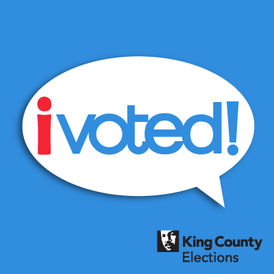 I Voted! social media profile image in English