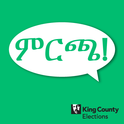 Vote! social media profile image in Amharic