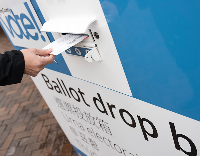 Slideshow 4 - ballot drop box