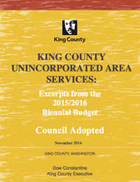 Council Adopted Unincorporated Area Services