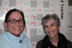 Michelle Pennylegion, Public Health Center Program Quality Manager, and Sarah Klevit Hopkins, Triple Aim Manager