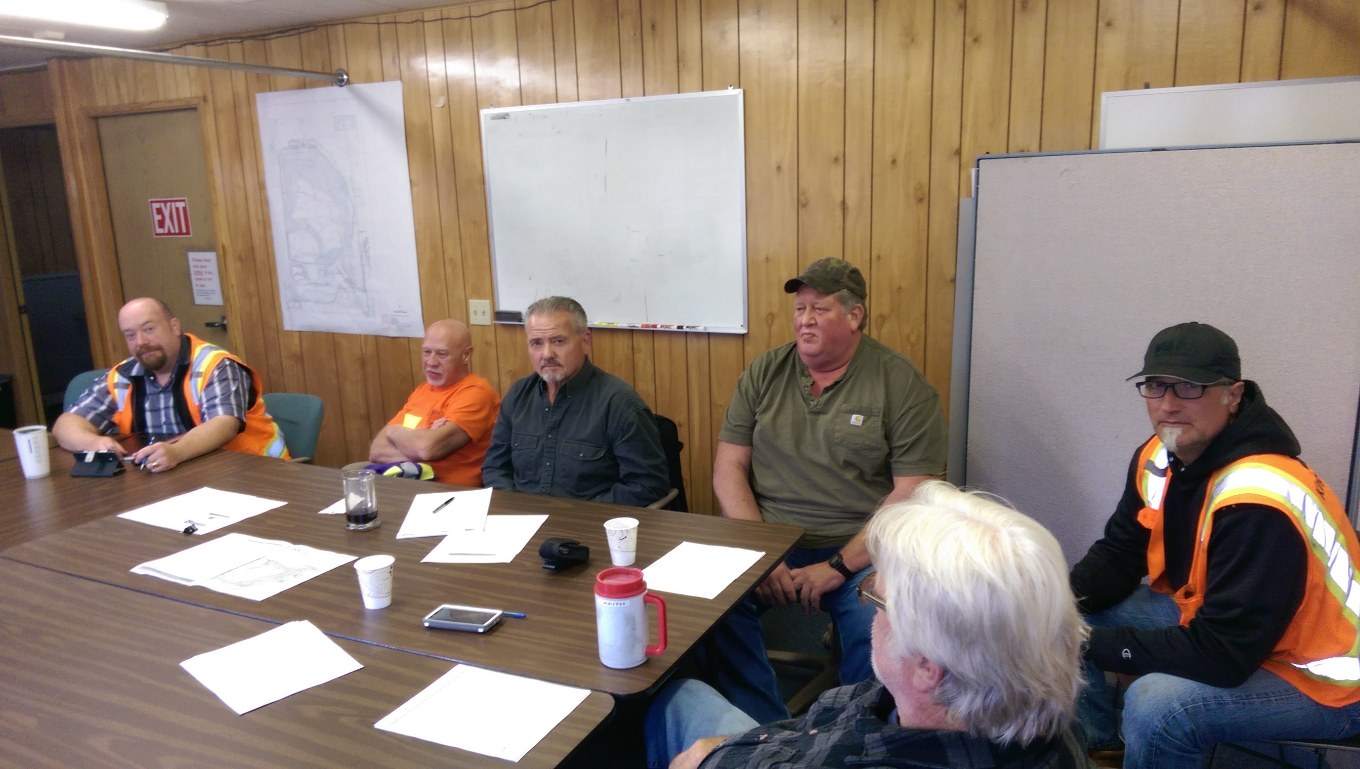 Some members of the Solid Waste Division Lean team discuss possible improvements
