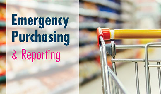 Report ALL emergency purchases.
