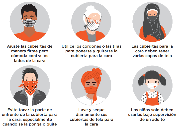 Mask guidance is available in multiple languages