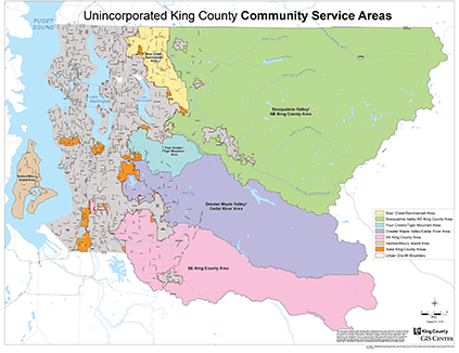 Basic map showing Community Service Areas