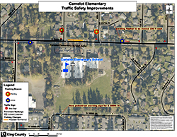 Camelot Elementary School Traffic Safety Improvements map.