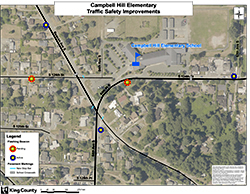 Campbell Hill Elementary School Traffic Safety Improvements map.
