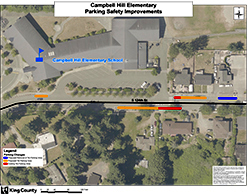 Campbell Hill Elementary School Parking Safety Improvements map.