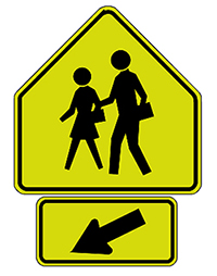 School Zone Advance Warning Sign