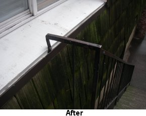 Photo of safe stair rail after Code Enforcement involvement