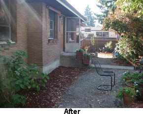 Photo of cleaned up yard after Code Enforcement involvement