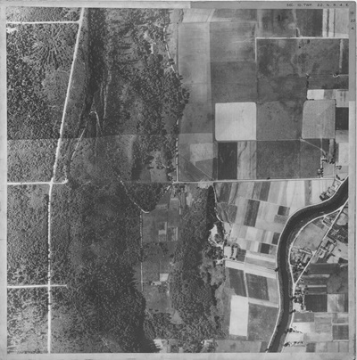 1937 aerial of Johnson Pit
