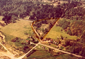1978 aerial of Johnson Pit