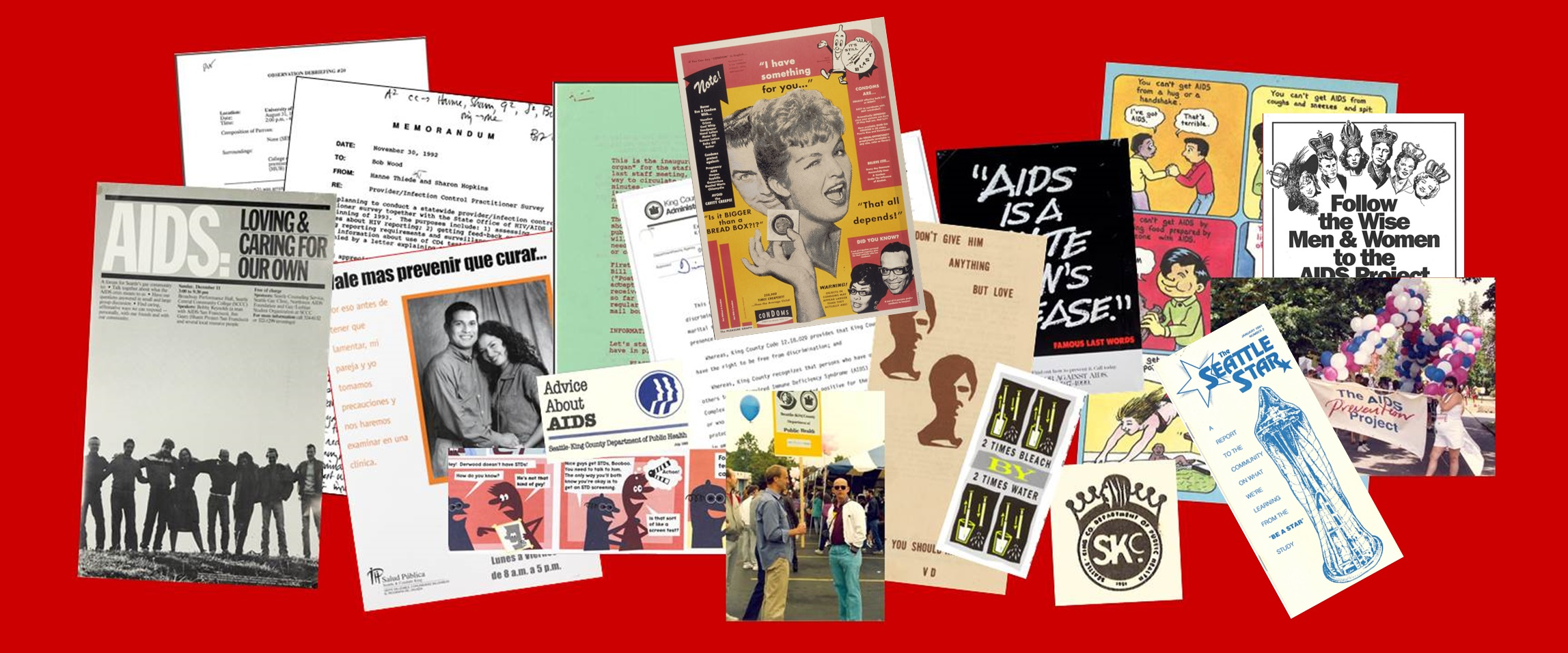 Responding to AIDS exhibit banner