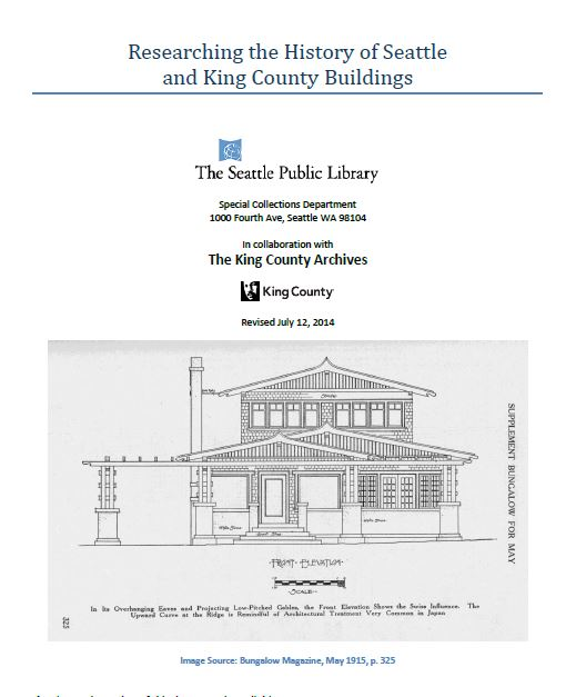 Researching the History of Seattle and King County Buildings
