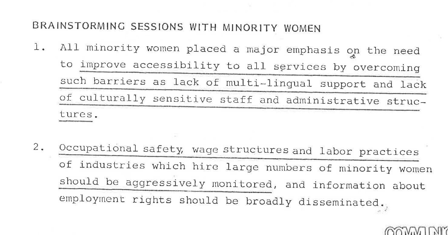 A history of the king county womens program king county needs of minority women in king county june 5 1980 series 872 documents collection document 2932 solutioingenieria Images