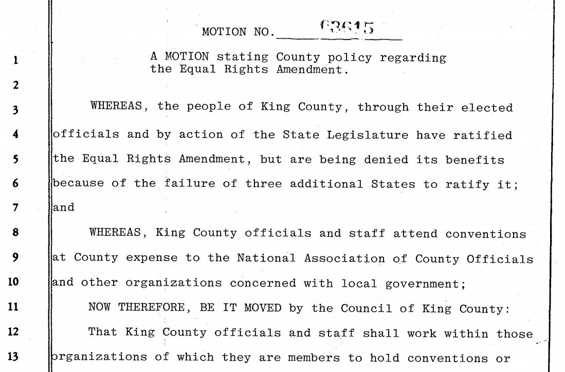 A history of the king county womens program king county detail of motion 3615 passed july 24 1978 series 306 king county council motions solutioingenieria Images