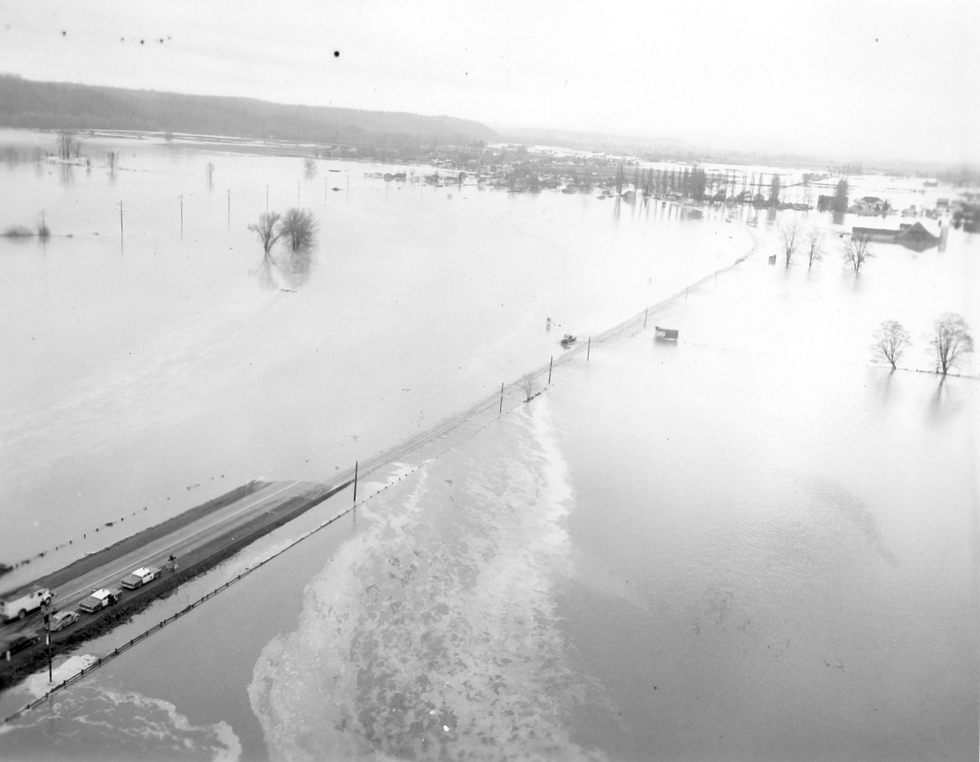 Green River flood, facing south
