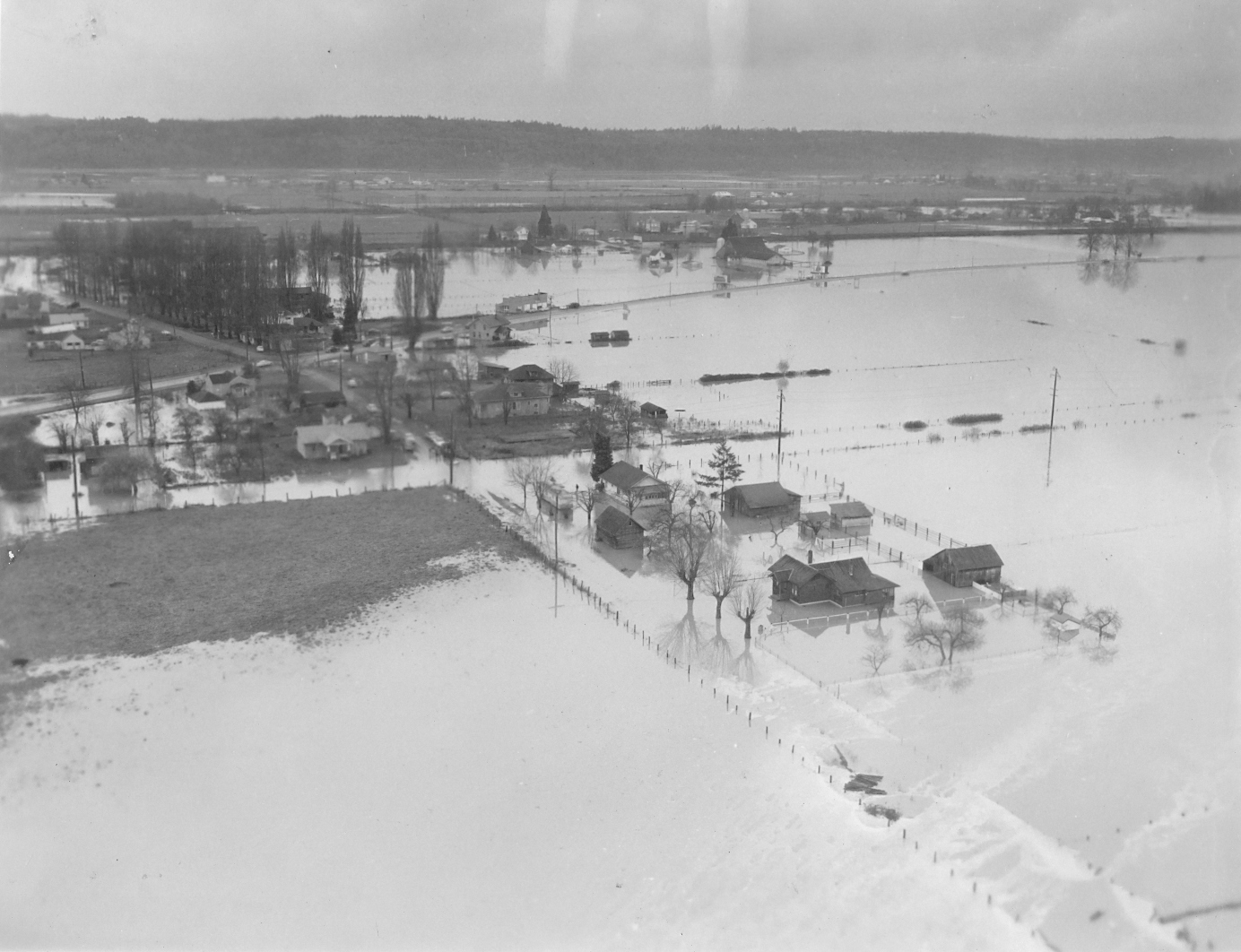 Green River flood, facing west