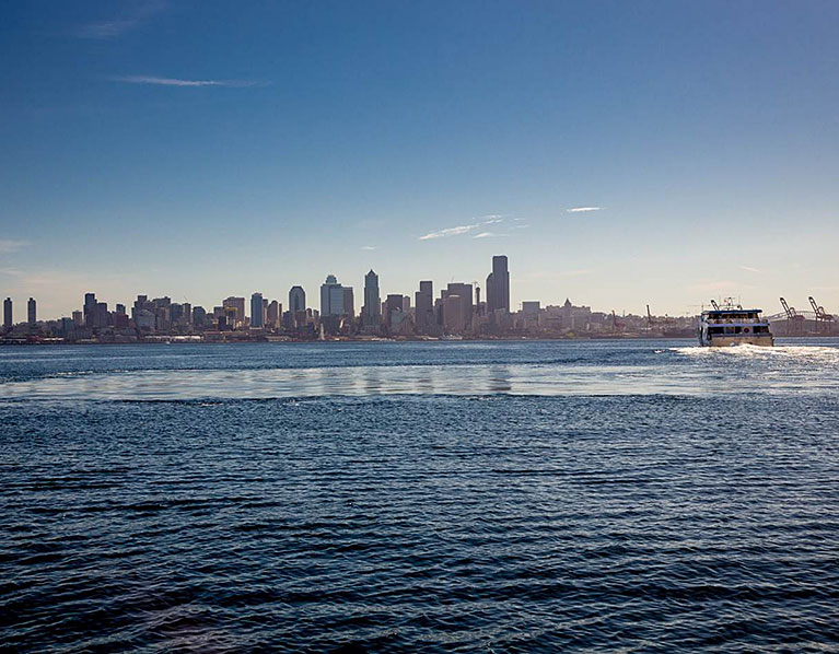 photo: boat and skyline
