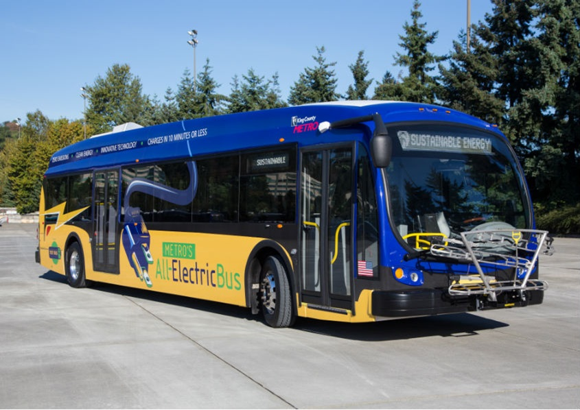 Metro Transit began testing its first all-electrice, battery-powered buses.